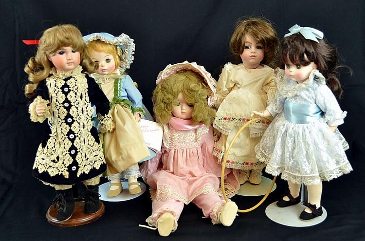 Porcelain Dolls, Madame Alexander, Jan Doehring,