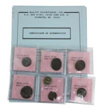 7 Pc. Ancient Roman Bronze Coin Lot