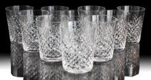 10 Pc. Waterford Alana Crystal Tumbler Glass Lot