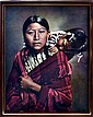L A Huffman Photo Print, Cheyenne Mother & Child.