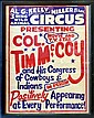 Framed Vintage 3 Ring Circus Poster, Al G Kelly.