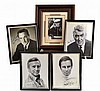 (5) Autographed Photos: Douglas, Heston, Etc...