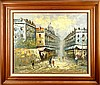 Paris Street Scene, Oil Painting Signed Burnett