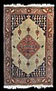 Small Persian Wool Prayer Rug with Birds