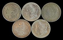 5 Circulated Morgan Silver Dollar #3