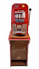 Mills Sega Bell Slot Machine with Jennings Stand
