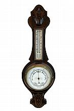 English Wall Barometer / Thermometer
