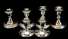 6 Pcs. Sterling Silver Candlestick Lot w/ Gorham