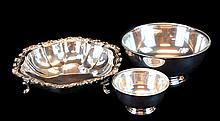 3 Pcs. Silver Plate Bowl Lot