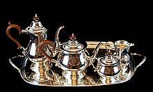 English Silver Plate Coffee & Tea Service w/ Tray