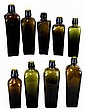 Lot of 9 Case Gin Bottles