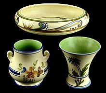 Vintage Weller Pottery Bonito, 3 Piece Lot