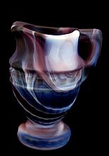 Imperial Slag Glass Miniature Pitcher in Purple