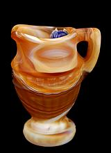 Imperial Slag Glass Miniature Pitcher in Tan