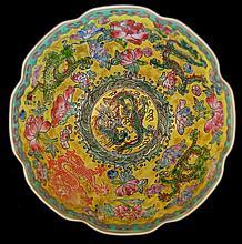 Vintage Chinese Dragon Bowl