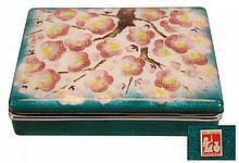 Japanese Tutanka Cherry Blossom Cloisonne Box