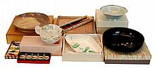 Asian NIB Pottery, Porcelain, Chop Stick Lot