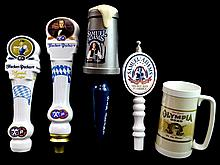 (4) Beer Tap Pulls with Mug