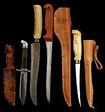 (4) Pcs. Hunting & Fishing Knife Lot