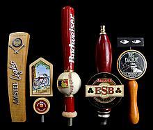 (5) Beer Taps: Bud, Amsteel, Fat Tire, Etc...