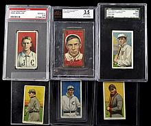 Six T-205, T-206 Baseball Cards: Piedmont/Caporal