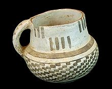 Anasazi Pottery Black-on-White Pottery Pitcher #2