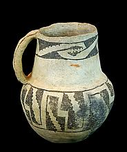 Anasazi Pottery Black-on-White Pottery Pitcher #1