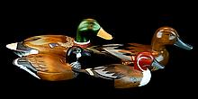 4 Pcs. Carved Wood Duck Decoy Lot #1