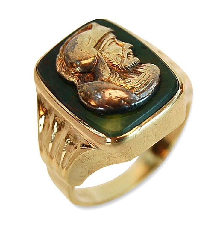 Men's 10K Gold Cameo Ring