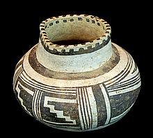 Anasazi Pottery Black-on-White Pottery Jar