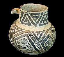 Anasazi Pottery Black-on-White Pottery Pitcher #4