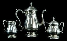 3 Pcs. International Sterling Prelude Tea Set