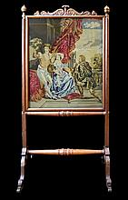 A French Fire Screen with Embroidery