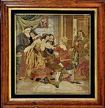 19th Century Framed Tapestry Panel