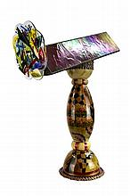Large Art Glass Kaleidoscope, Parlor Model