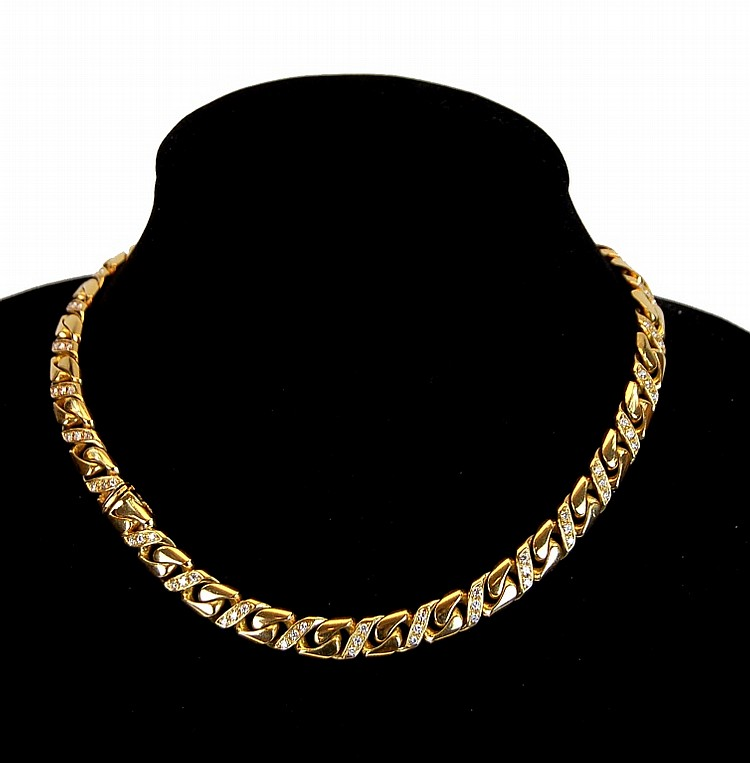 18K Gold Fred of Paris Diamond Necklace
