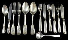 Russian Silver, Continental Silver Plate Flatware
