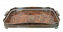 Vintage Silverplated Faux Tortoise Shell Tray