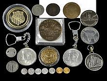 Coin/Token Lot: 14K Mexican Token, Kennedy Silver