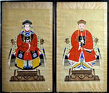 Chinese Ancestral Painting PAIR