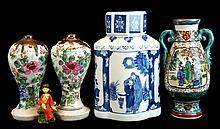 Chinese Porcelain and Clay Figure Lot