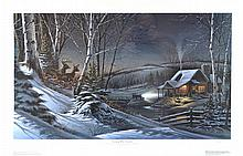 Terry Redlin Lithograph, Evening with Friends #651