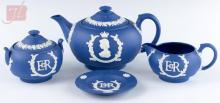 1953 Wedgwood Jasperware Queens Coronation Tea Set