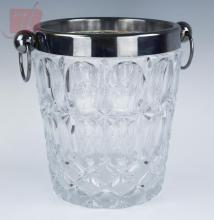 Glass & Silver Plate Ice Bucket