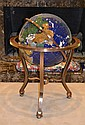 Gilbert Ortega Gemstone Lapis World Globe
