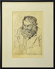 Joseph Margulies (1896-1984) Etching of a Man