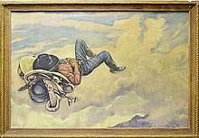Lon Megargee  A-1 Beer Poster in Original Frame