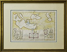 18th Century Map by Rigobert Bonne, Jerusalem