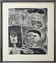 Federico Castellon (1914-1971) Lithograph #2