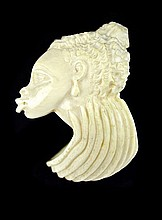 African Carved Ivory Cuff